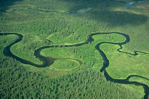 منحنی بودن رودخانه