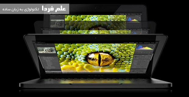 زاویه دید صفحه نمایش  لپ تاپ Razer Blade 14