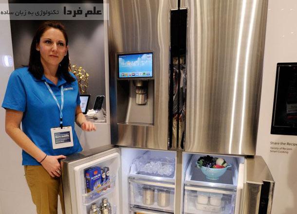 یخچال فریزر هوشمند سامسونگ T9000 مجهز به وای فای