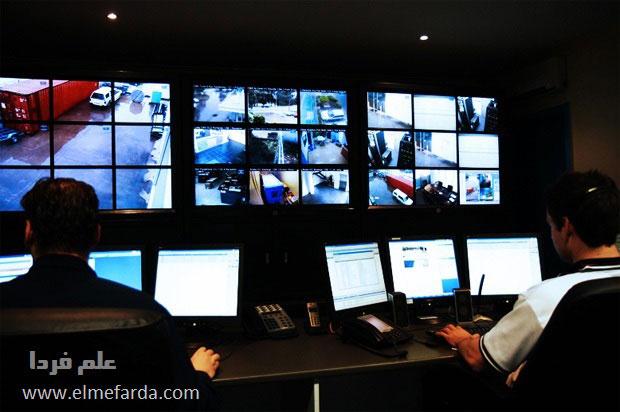 اتاق کنترل دوربین های امنیتی