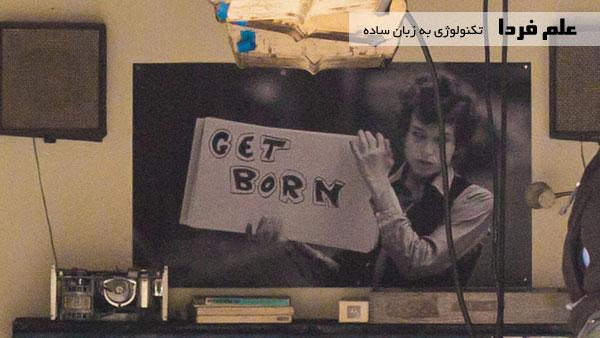 پوستر خواننده معروف آمریکایی در گاراژ استیو جابز