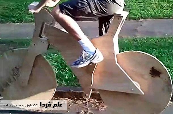 دوچرخه چوبی دست ساز