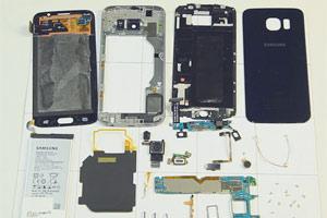 کالبد شکافی Galaxy S6 ، قطعات داخلی