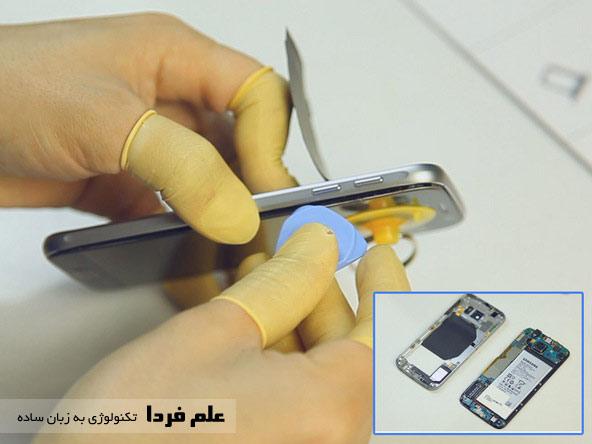 گرما دادن پنل LCD در Galaxy S6
