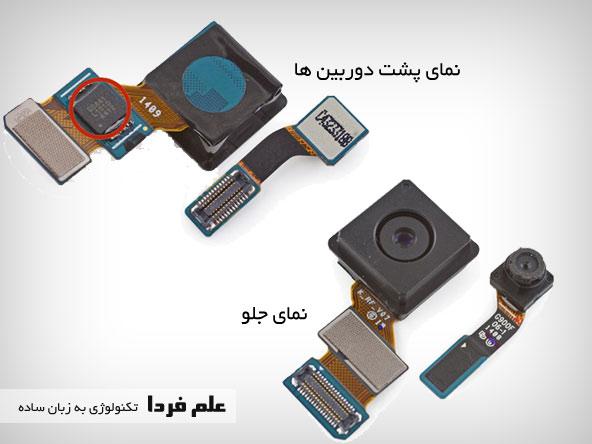 نمای جلو و عقب دوربین های گلکسی اس 5