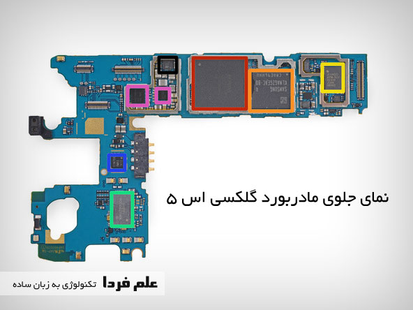مادربورد ، پردازنده و RAM گوشی Galaxy s5