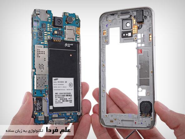 جدا کردن مادربورد از قاب اصلی Galaxy S5