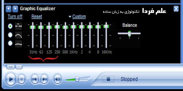 اکولایزر صوتی مدیا پلیر در ویندوز