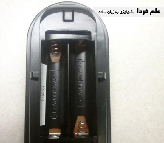 جای باتری در کنترل تلویزیون