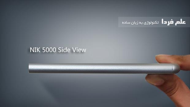 نمای جانبی پاوربانک نیک NIK 5000