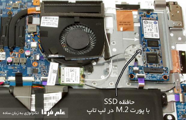 حافظه SSD با استاندارد M.2 در لپ تاپ ایسر اسپایر V3