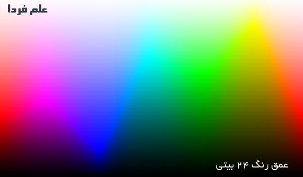 عمق بیت رنگ - 24 بیت به ازای هر پیکسل