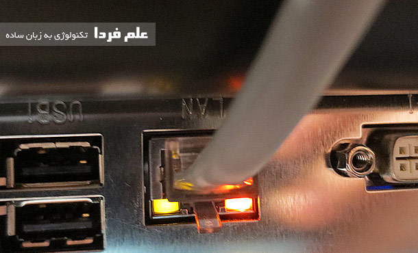 چراغ وضعیت کارت شبکه