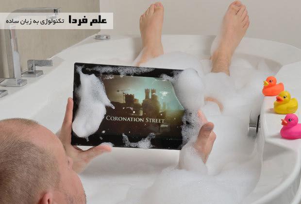 تبلت اکسپریا زد تبلت ژاپنی در حمام