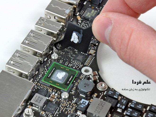 کنترلر تاندربولت روی مادربورد مک بوک اپل