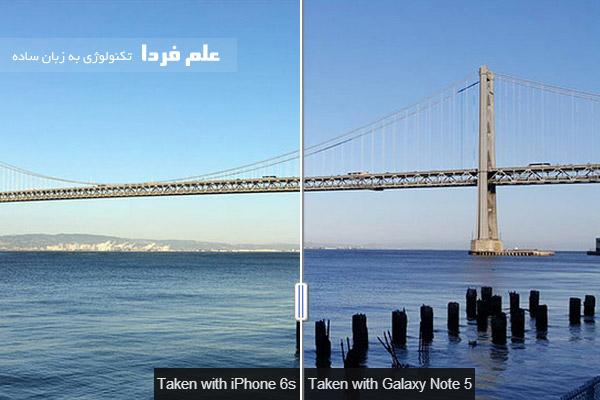 مقایسه دوربین آیفون 6 اس با گلکسی نوت 4