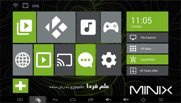 رابط کاربری مینیکس Minix UI برای اندروید کیت کت