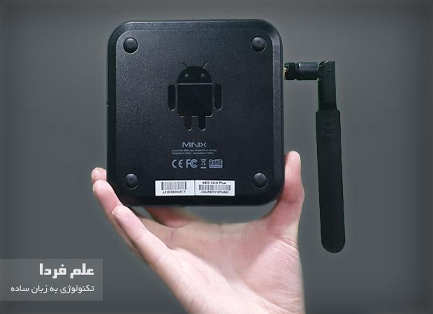 اندروید باکس Minix X8-H Plus - نمای پشت دستگاه
