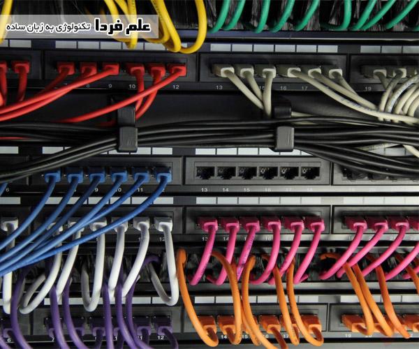 دسته بندی کابل ها با کابل شبکه رشته ای
