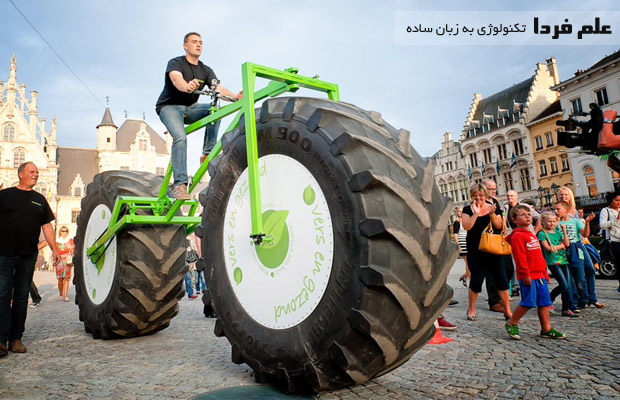 سنگین ترین دوچرخه دنیا در بلژیک