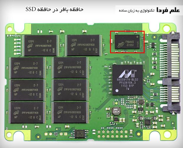 قطعات داخلی SSD - حافظه بافر
