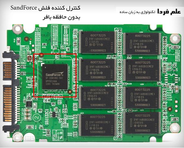 داخل SSD - کنترلر SandForce بدون بافر