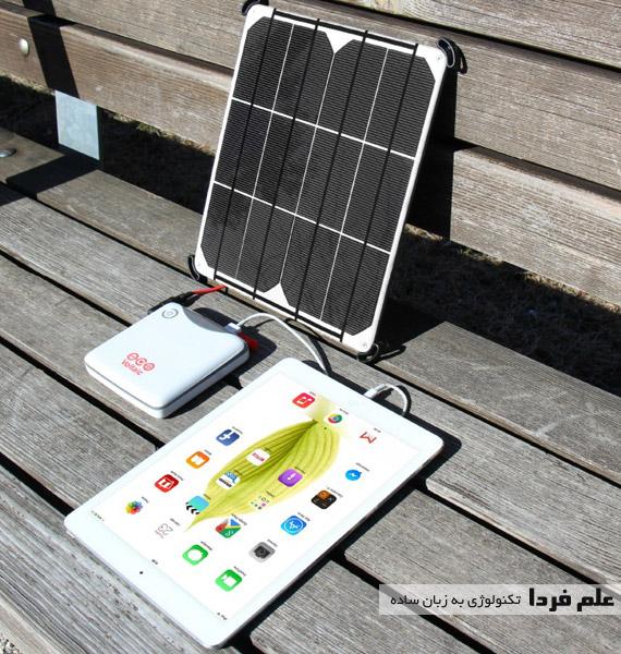 شارژر خورشیدی برای تبلت آیپد