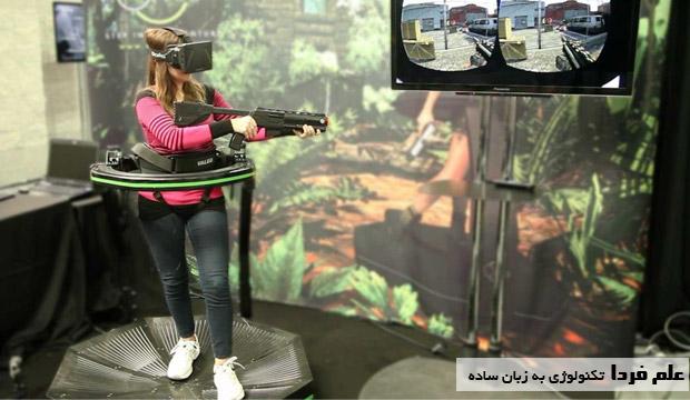 نمونه ای از یک بازی واقعیت مجازی یا VR