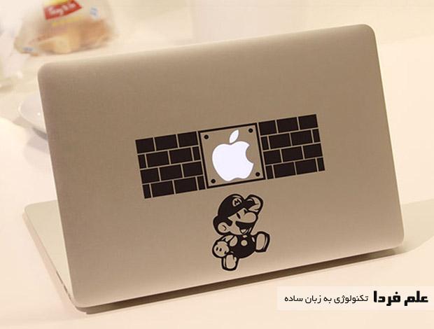 لوازم جانبی لپ تاپ - برچسب پشت لپ تاپ