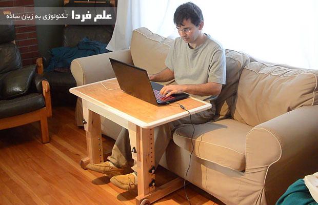 از میز لپ تاپ استفاده کنید