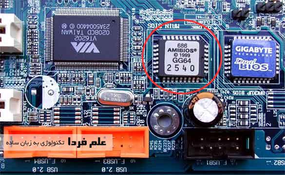 حافظه رام ( بایوس ) روی مادربورد کامپیوتر