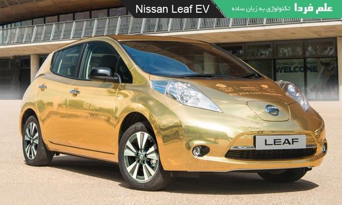 خودرو تمام الکتریکی Nissan Leaf EV با روکش طلا هدیه نیسان به قهرمانان المپیک 2016 ریو