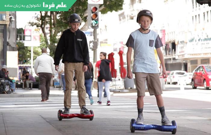 استفاده از اسکوتر برقی در خیابان