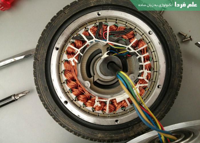 موتور و سیم پیچ اسکوتر برقی