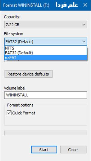 فرمت exFAT برای اتصال هارد به گوشی موبایل