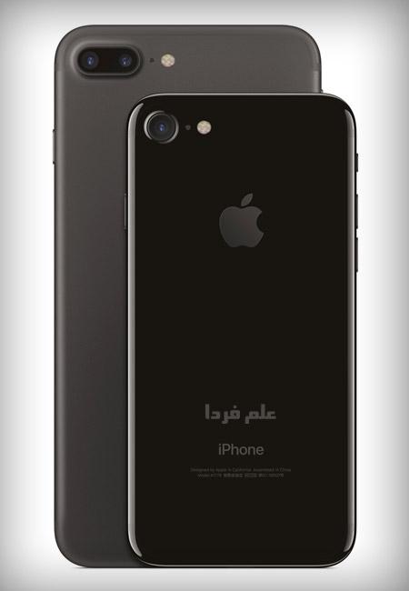 آیفون 7 با رنگ jet black و رنگ matte black