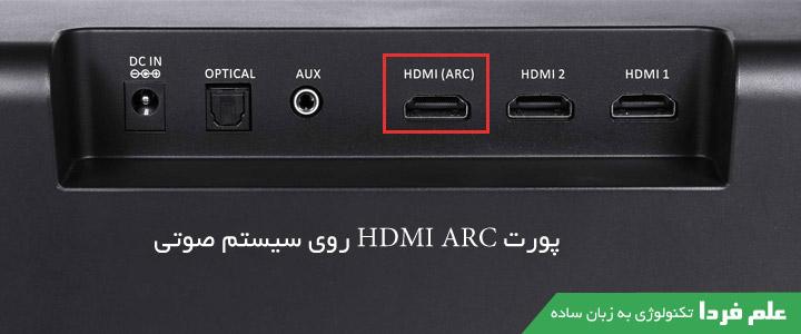 پورت HDMI ARC روی سیستم صوتی