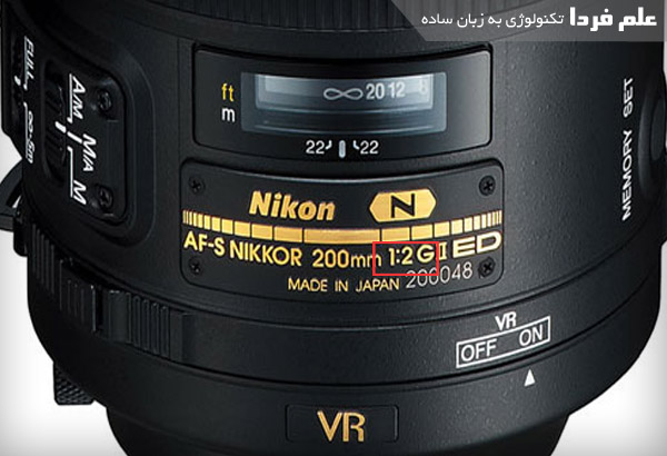 دیافراگم ( اپرچر ) ثابت روی دوربین Nikon