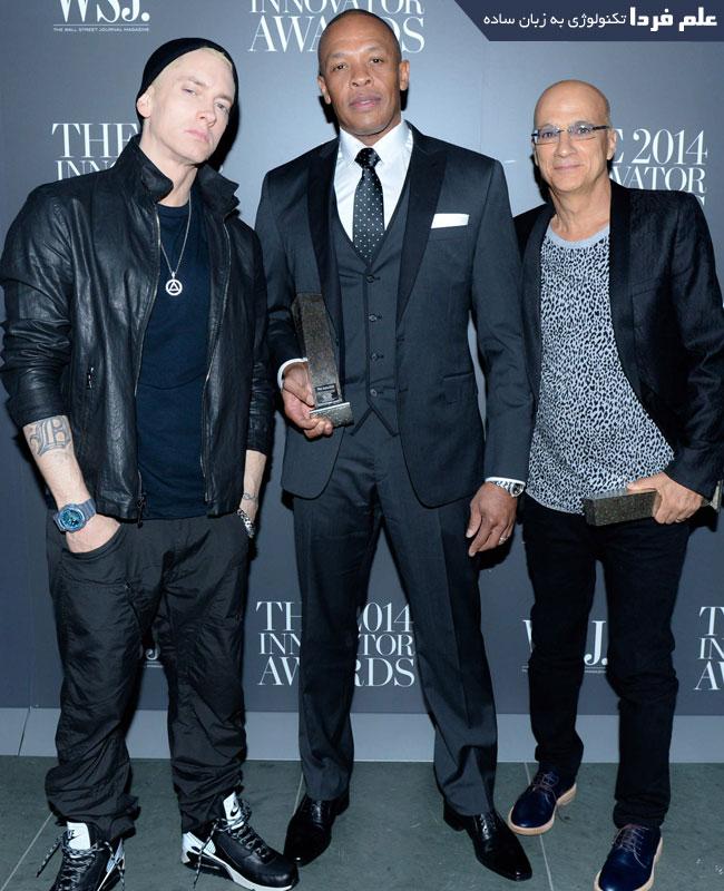 موسسان شرکت Beats - از راست Jimmy Iovine و Dr.Dre