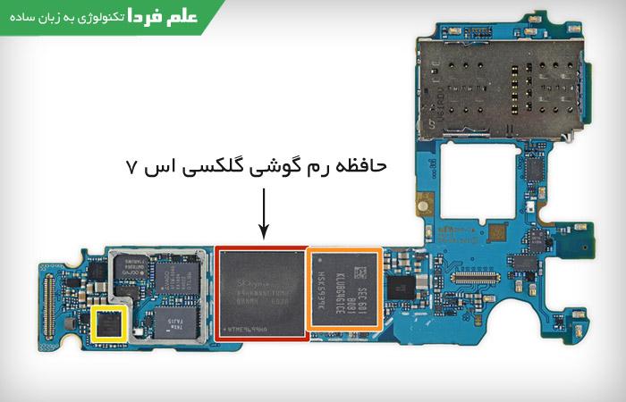 حافظه RAM گوشی گلکسی اس 7