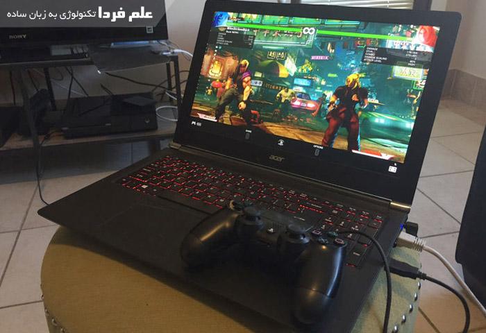 بازی با لپ تاپ