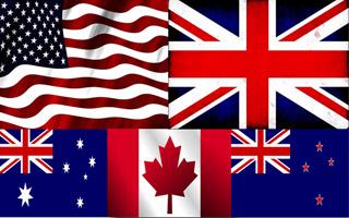 پرچم کشورهای انگلیسی زبان