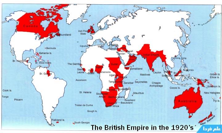 استعمار امپراطوری بریتانیای کبیر باعث شد زبان انگلیسی به زبان بین المللی تبدیل بشه