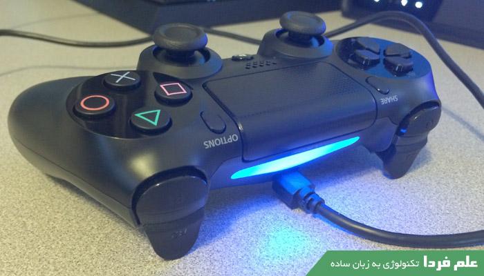 اتصال دسته PS4 از طریق کابل