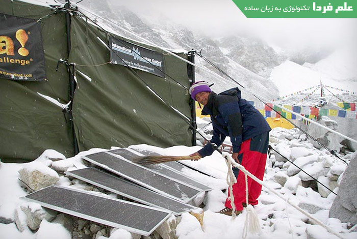 استفاده از پنل خورشیدی در هوای برفی