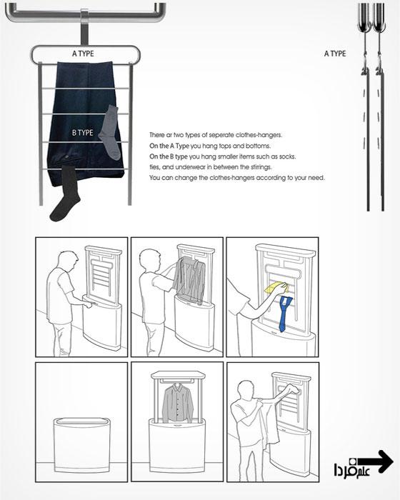 طرز کار ماشین لباس شویی Pop-Up Laundry
