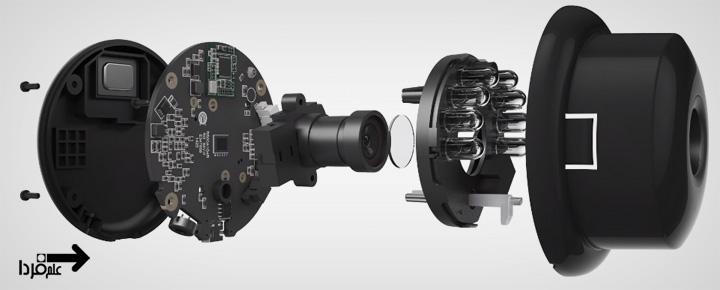 قطعات داخلی دوربین نظارتی Yi Home Camera