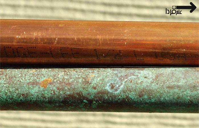 رنگ سبز در فلز مس - اکسداسیون مس