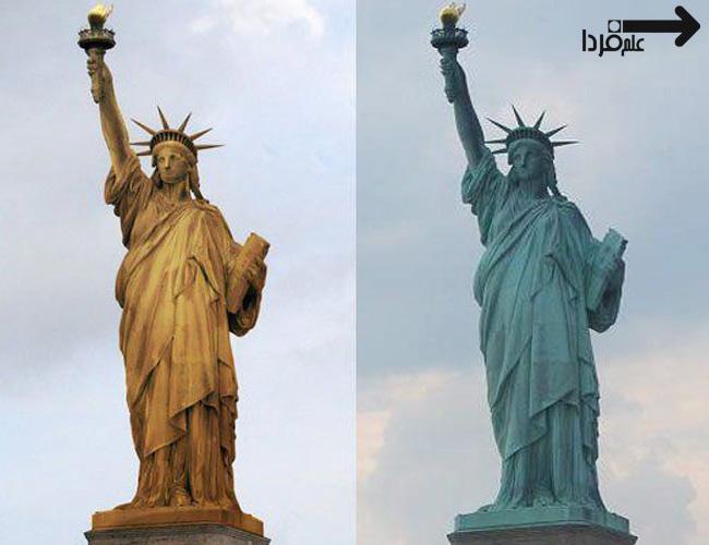 مجسمه آزادی پتینه شده