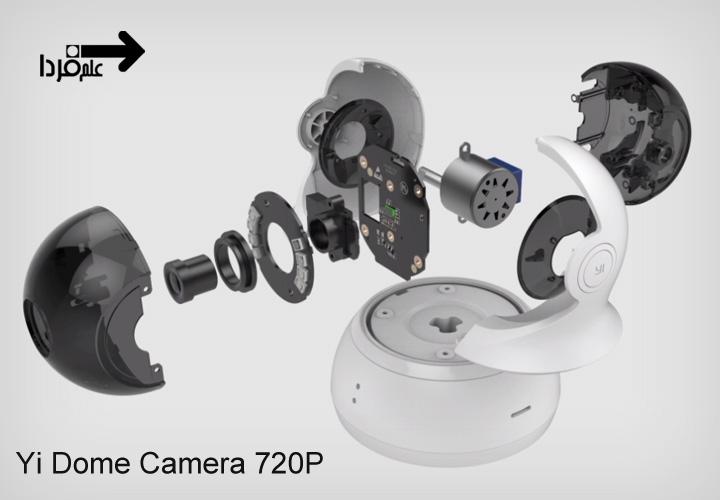 قطعات داخلی دوربین شیائومی Yi Dome